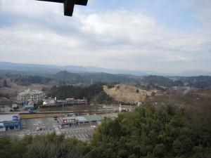 神城神社の高台からの眺め