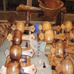 フォレスト神城文化の森市房杉記念館  市房杉千年杉で作られた工芸品 打ち出の小槌や十二支など