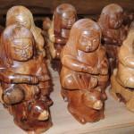 フォレスト神城文化の森市房杉記念館  市房杉千年杉で作られた工芸品 市松人形他