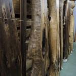 フォレスト神城文化の森ショールーム屋久杉記念館          天然乾燥材(15年以上)盤木及び建築材その3