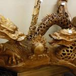 フォレスト神城文化の森ショールーム(小型店)市房杉・焼酎館 杉(スギ)龍の彫刻品