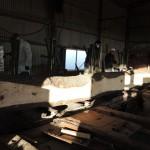 クロマツ、ハゼの木の製材を1月12日に宮崎県小林市の柞木商店様で行いました。